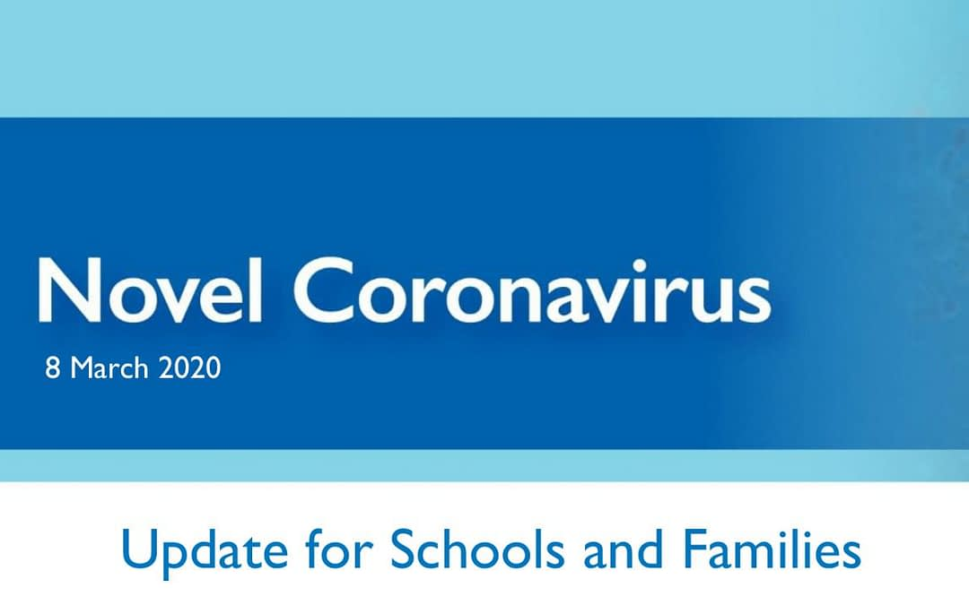 Update for Schools and Families - Novel Coronavirus