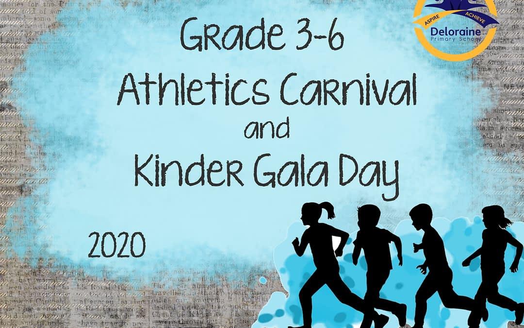 Term 1 Week 6 – Grade 3-6 Athletics Carnival and Kinder Gala Day