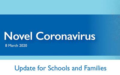 Term 1 Week 6 – Update for Schools and Families – Novel Coronavirus