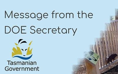 Term 1 Week 8 – Letter from DOE Secretary