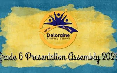Grade 6 Presentation Assembly 2020