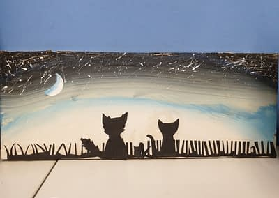 Cat and Dog artwork by Addie
