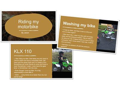 Jaxon's motorbike PowerPoint presentation