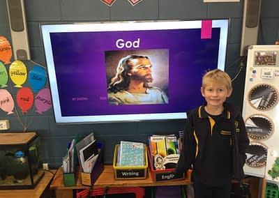 Dustin's presentation about God
