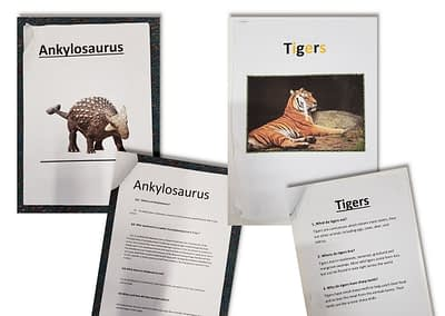 Timmy and Izaac choose animals and researched them and presented their info in a booklet