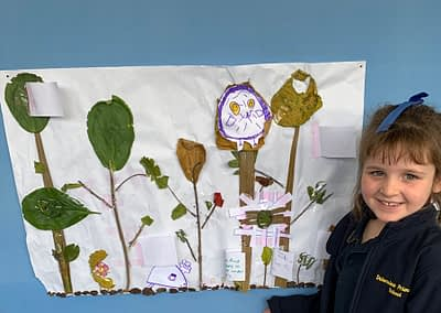 Jenna created a college all about forests around the world and what you might find in them