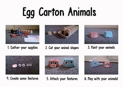 Egg Carton Animals (Early Childhood)