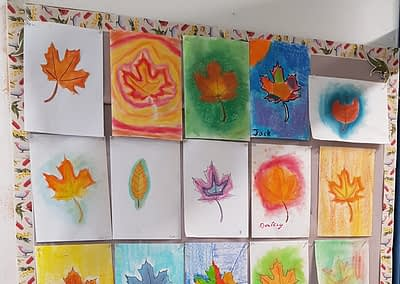 drawings of autumn leaves